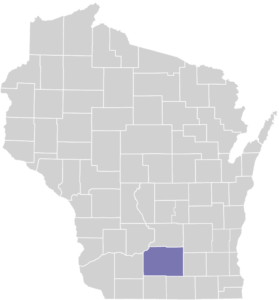 Dane County on Map
