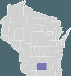 Dane County on Map