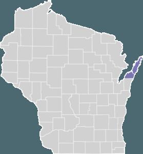 Door County on Map