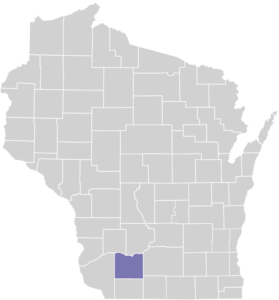 Iowa County on Map