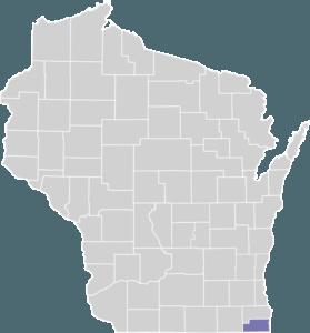 Kenosha County on Map