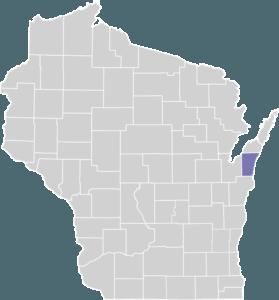 Kewaunee County on Map