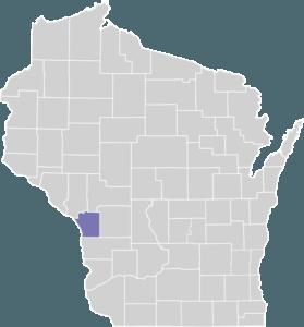 La Crosse County on Map