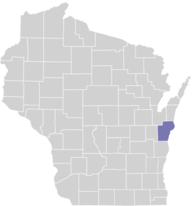 Manitowoc County on Map