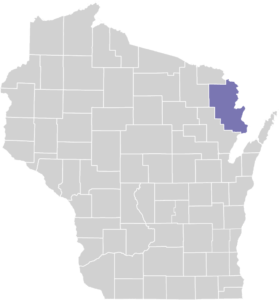 Marinette County on Map