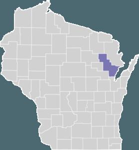 Oconto County on Map
