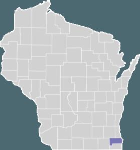 Racine County on Map