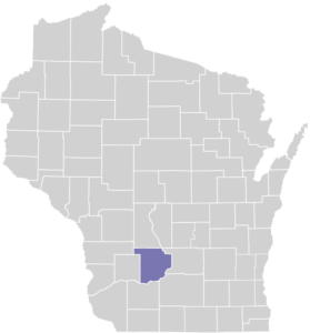 Sauk County on Map