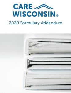 "Image of a stack of binders +""2020 Formulary Addendum"""