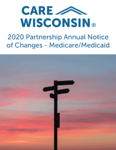 Directional signs silhouetted by a sunset + 020 Partnership Annual Notice of Changes - Medicare:Medicaid